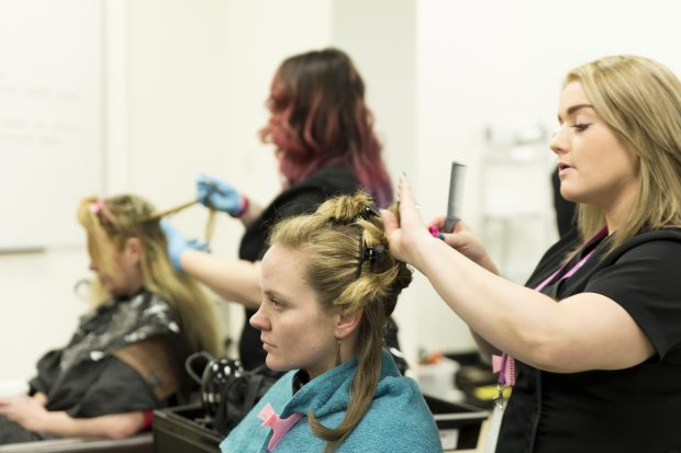 Hairdressing apprentices