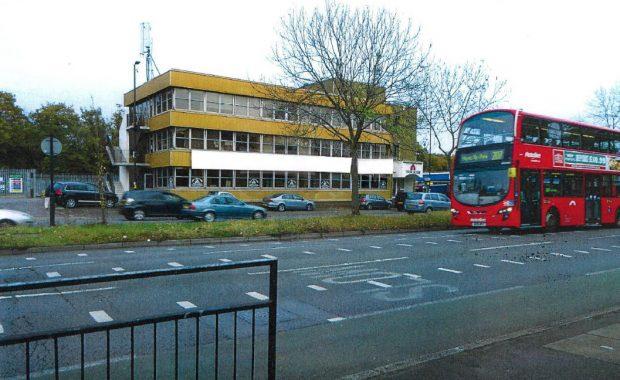 An external photo of an unregistered school in a London street.